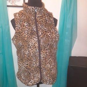 Jackets & Blazers - LEOPARD PRINT VEST
